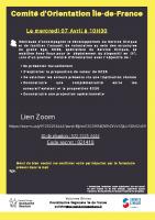 Invitation Comité d'Orientation SCSS